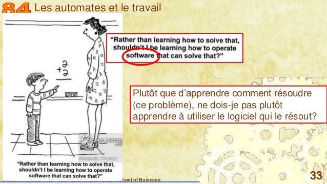 Mohamed Louadi, PhD – ISG-Tunis/Mediterranean School of Business 33 Plutôt que d'apprendre comment résoudre (ce problème),...