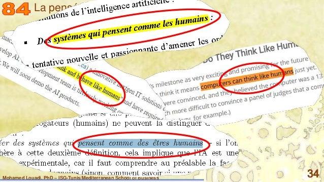 Mohamed Louadi, PhD – ISG-Tunis/Mediterranean School of Business 34 La pensée un calcul ?