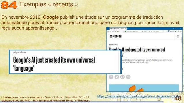 Mohamed Louadi, PhD – ISG-Tunis/Mediterranean School of Business 48 En novembre 2016, Google publiait une étude sur un pro...