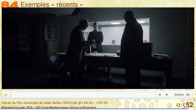 Mohamed Louadi, PhD – ISG-Tunis/Mediterranean School of Business 520:5Extrait du film Automata de Gabe Ibáñez (2014) de @1...