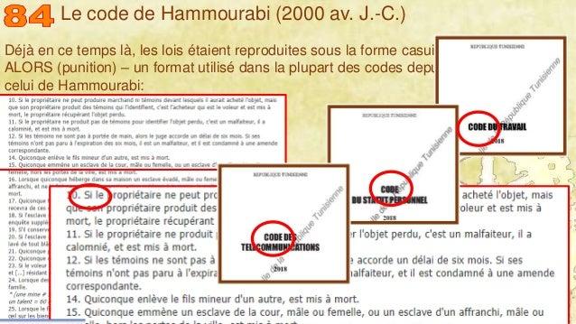 Mohamed Louadi, PhD – ISG-Tunis/Mediterranean School of Business 8 Déjà en ce temps là, les lois étaient reproduites sous ...
