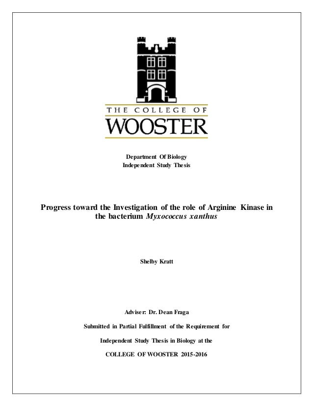 Biology honors thesis northwestern