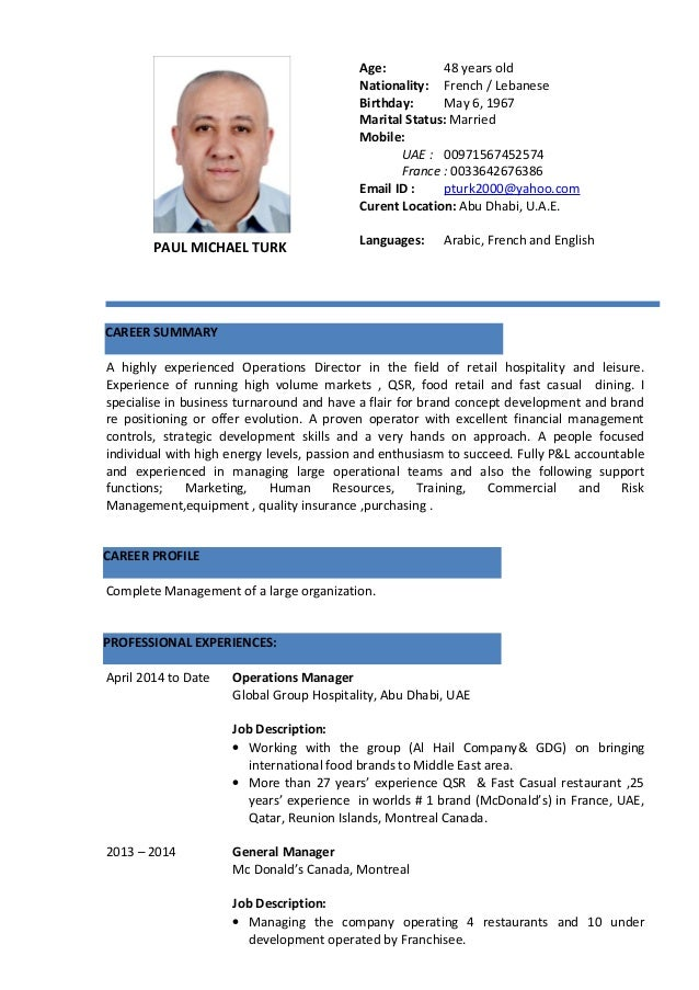 PAULMICHELTURK A highly experienced Operations Director in the field of retail hospitality and leisure. Experience of runn...