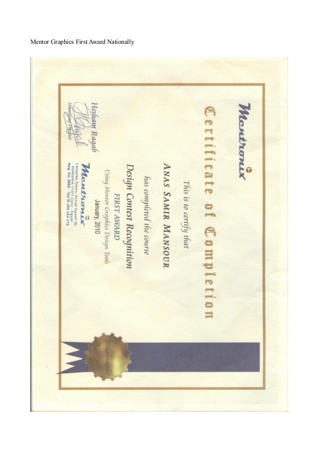 Mentor Graphics First Award Nationally