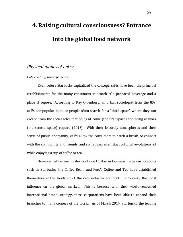 29   4.  Raising  cultural  consciousness?  Entrance   into  the  global  food  network       ...