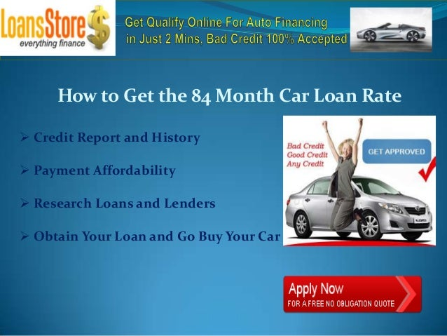 Car loan interest rates for 84 months 11