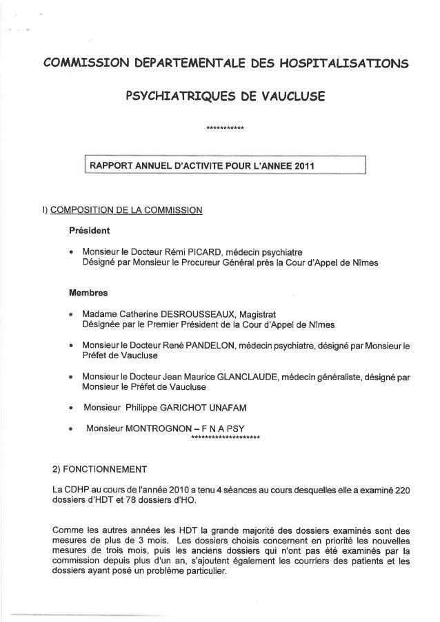 84  rapport activité cdsp 2011