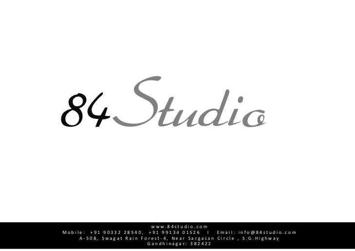 84Studio<br />        Introduction<br />    84Studio<br />              84 Studio Is a Full Service  advertising company &...