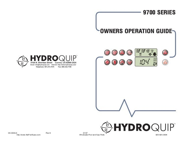 9700 SERIES                                                        OWNERS OPERATION GUIDE                                 ...