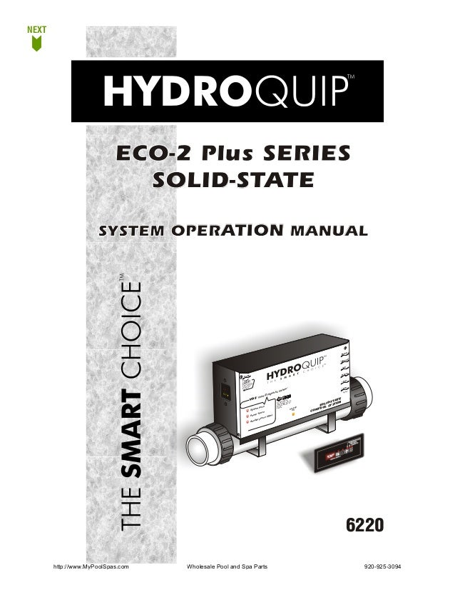 NEXT                           ECO-2 Plus SERIES                             SOLID-STATE                     SYSTEM OPERAT...