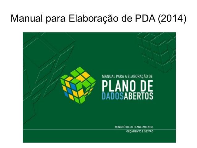 Manual para Elaboração de PDA (2014)