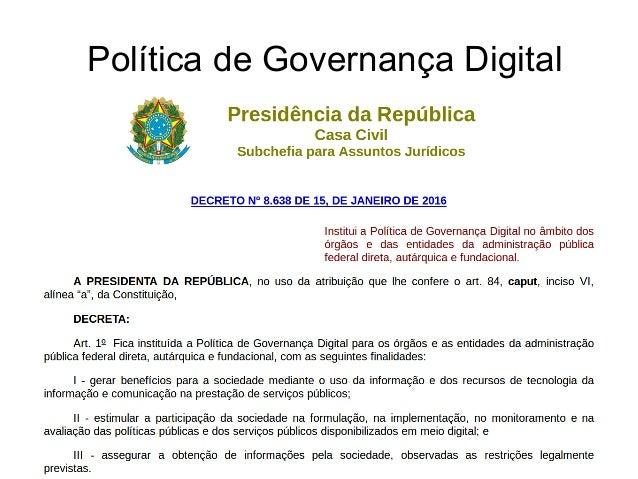 Política de Governança Digital