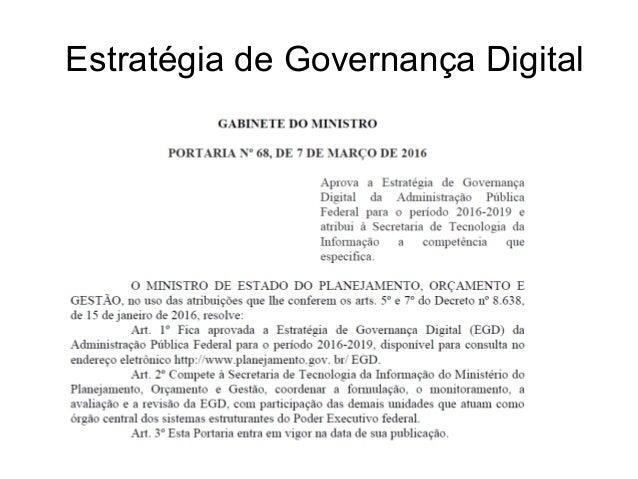 Estratégia de Governança Digital