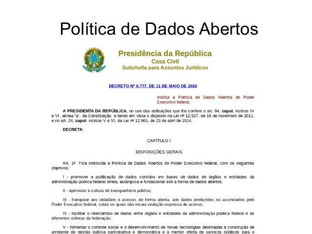 3732 / Política de Dados Abertos