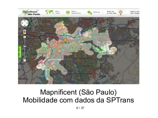 Mapnificent (São Paulo) Mobilidade com dados da SPTrans 379 /