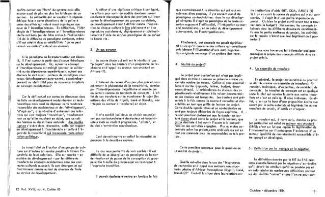 85 le développement, un requis universel? d. goulet, d. perrot, r. panikkar, r. vachon. (document à télécharger en for...