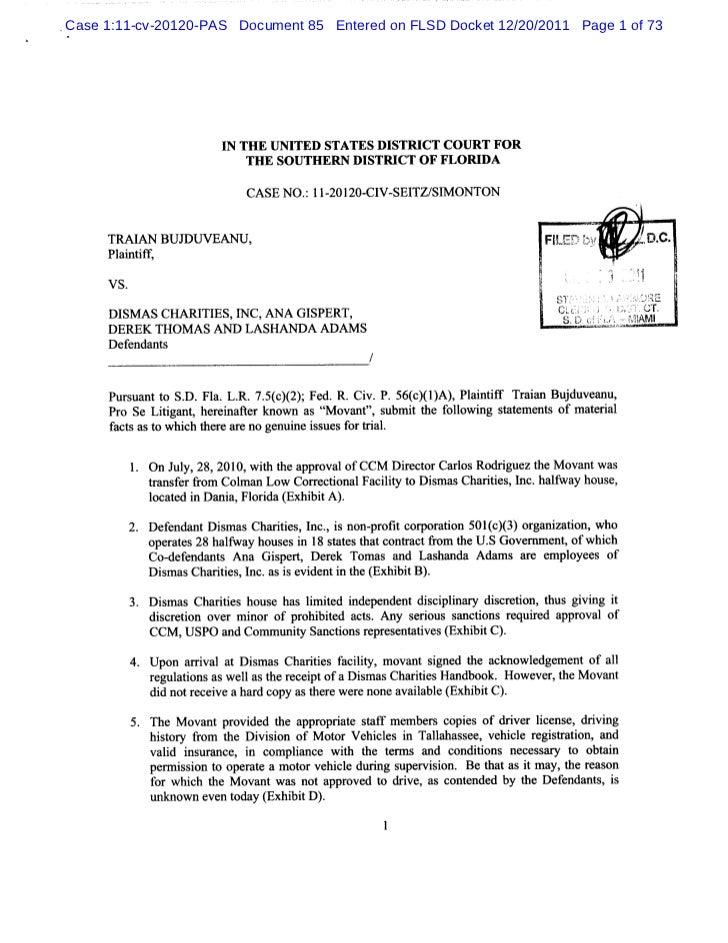 Case 1:11-cv-20120-PAS Document 85 Entered on FLSD Docket 12/20/2011 Page 1 of 73                     I TH E UNI          ...