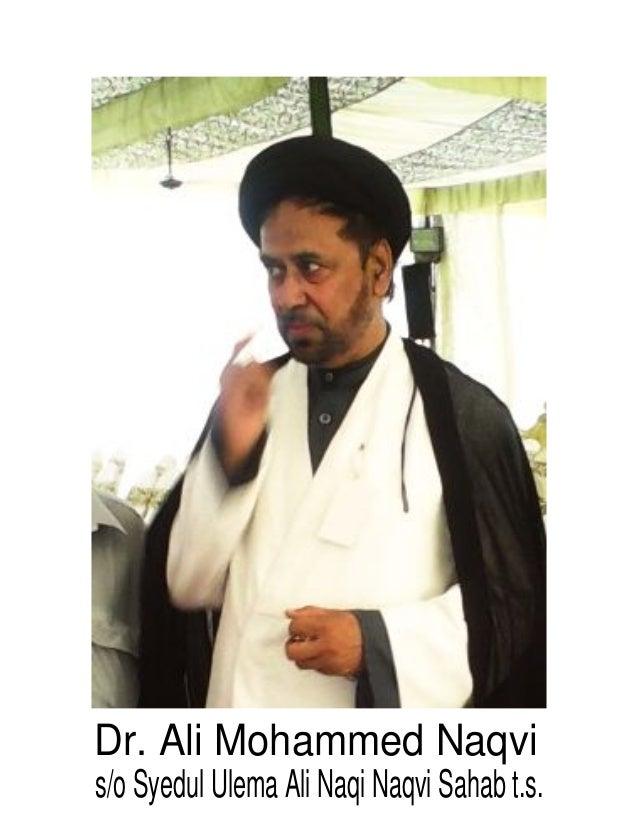 Dr. Ali Mohammed Naqvi s/o Syedul Ulema Ali Naqi Naqvi Sahab t.s.
