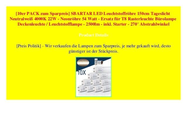 10er PACK zum Sparpreis SBARTAR LED Leuchtstoffröhre ...