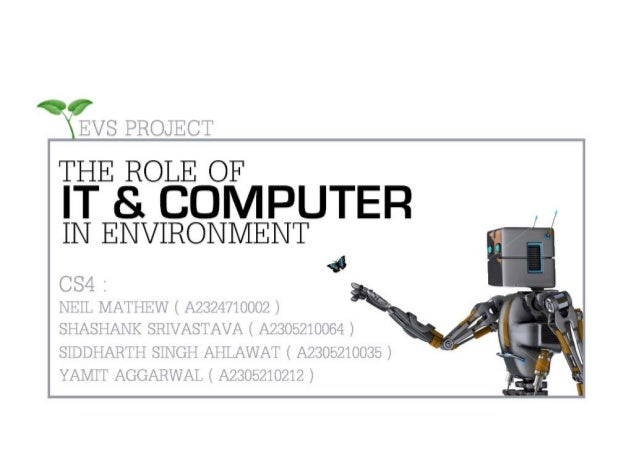 Role of IT & Computer in Environment