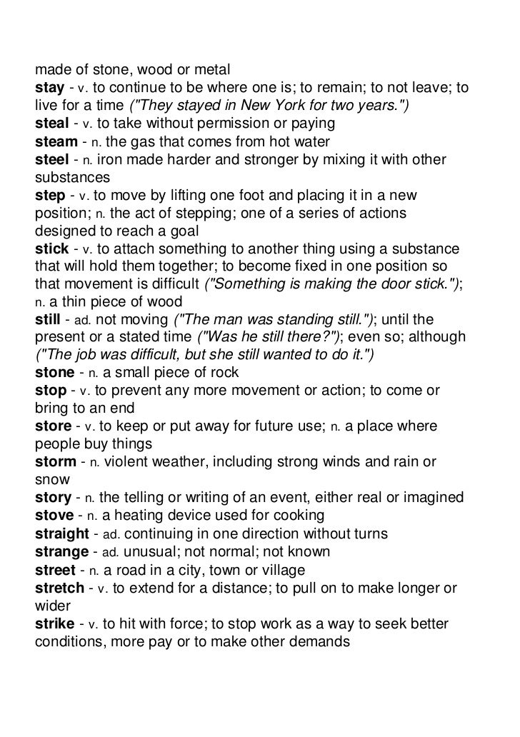 Voa Special English Word Book Word List