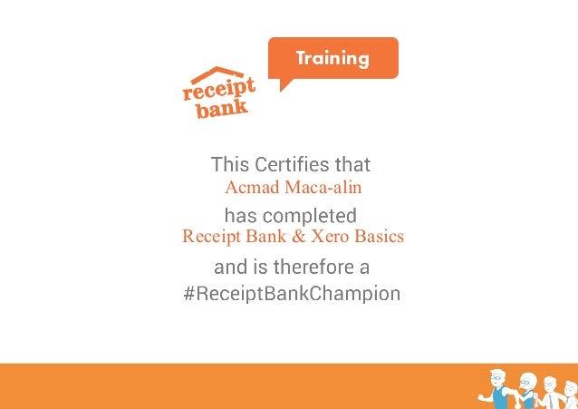Acmad Maca-alin Receipt Bank & Xero Basics
