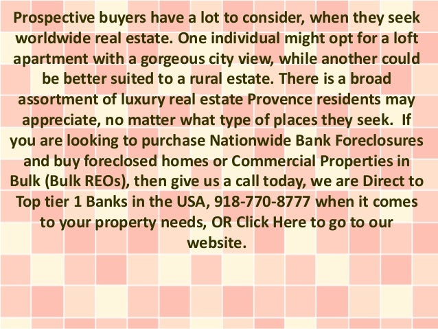 Prospective buyers have a lot to consider, when they seek worldwide real estate. One individual might opt for a loftapartm...
