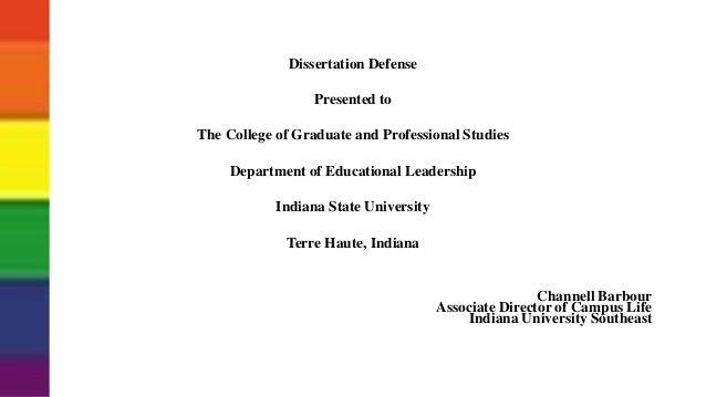 iu dissertation defenses