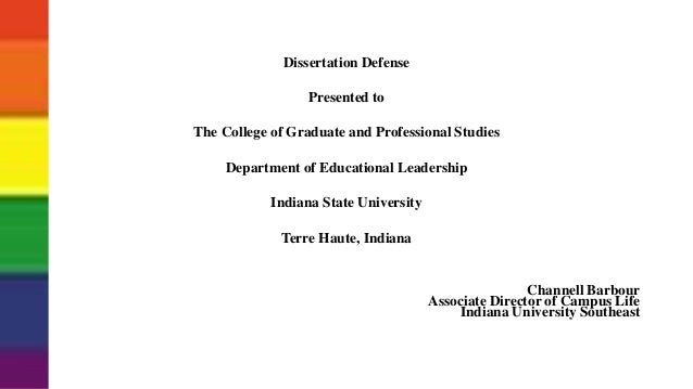 Doctoral dissertation defense powerpoint