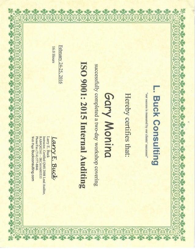 Iso 9000 2015 Audit Certification