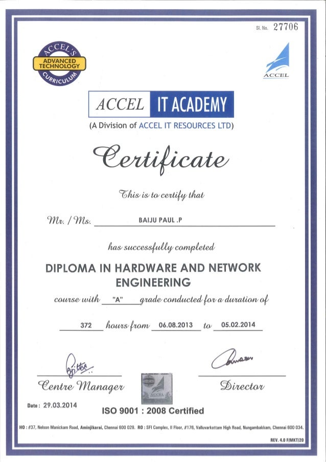 Accel It Certificate