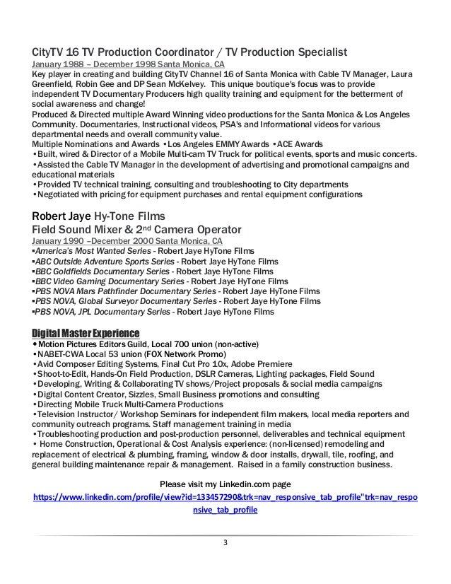 Richard Erbeznik, Digital Master resume, May 2016 (7) Slide 3
