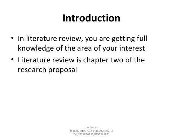 Introduction example     Literature review chapter     Yumpu