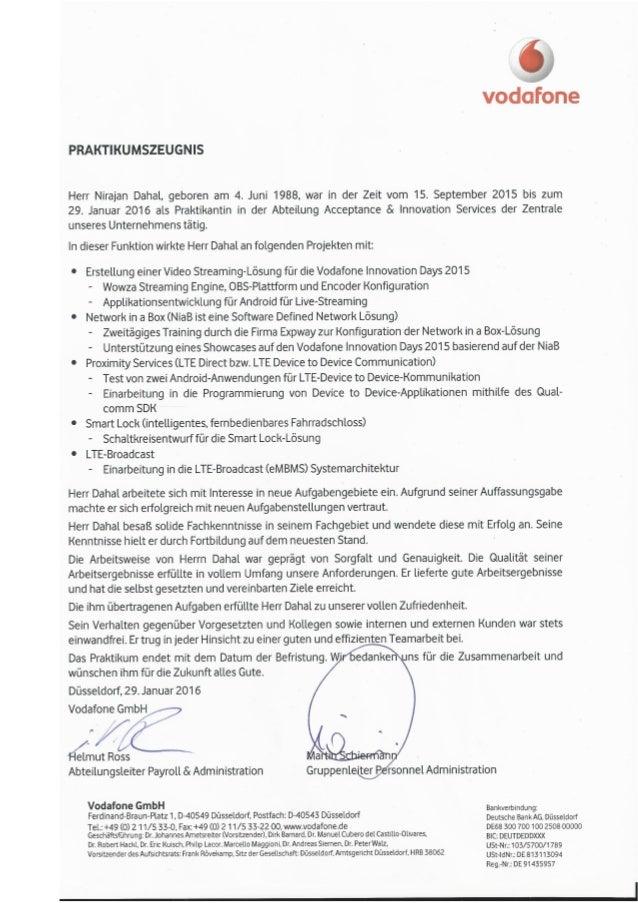 Internship certificate vodafone internship certificate yadclub Gallery