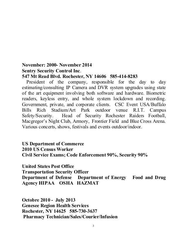 Federal resume upadted