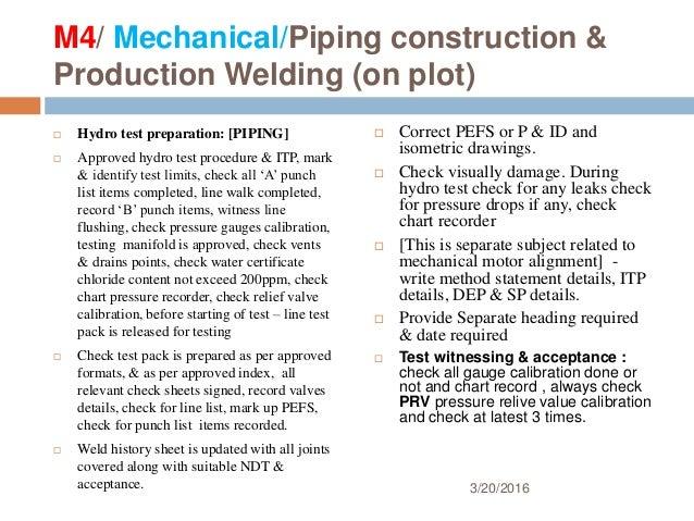 Presentation for Punch list procedure