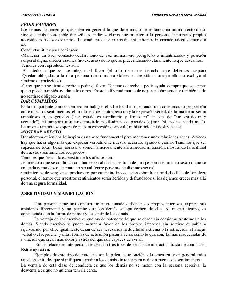 Psicología - UMSA                                                          Heberth Ronald Mita YonimaPEDIR FAVORESLos demá...