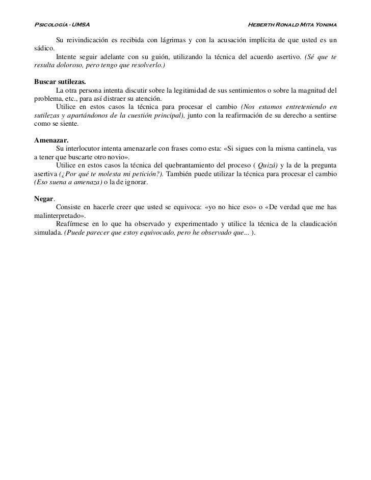 Psicología - UMSA                                                         Heberth Ronald Mita Yonima          Su reivindic...