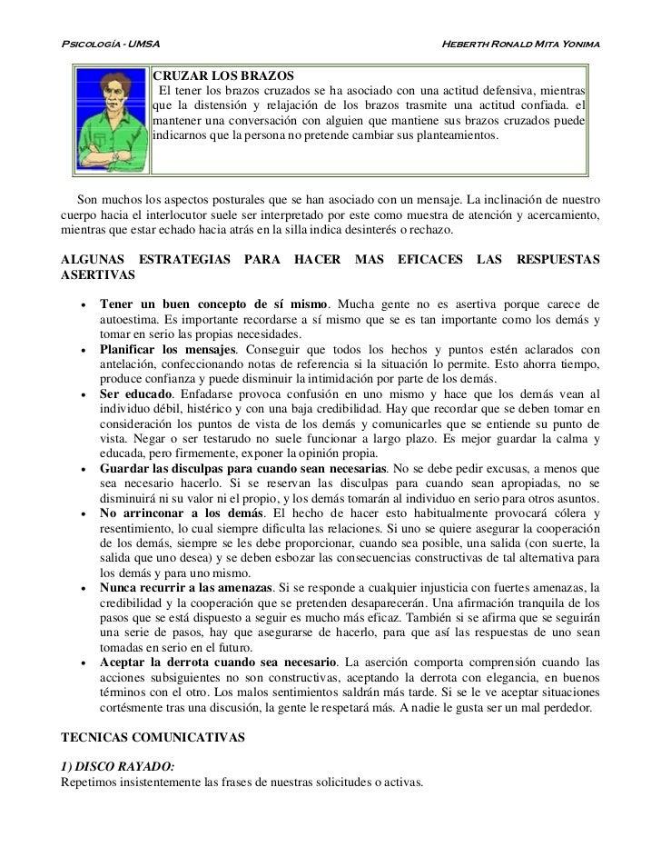 Psicología - UMSA                                                         Heberth Ronald Mita Yonima                 CRUZA...