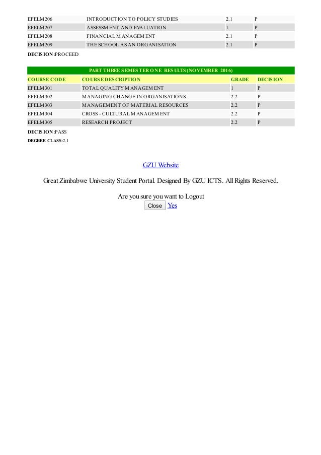 Gzu June 2019 Exam Results