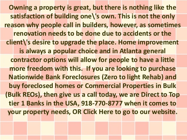 Owning a property is great, but there is nothing like the   satisfaction of building ones own. This is not the onlyreason ...