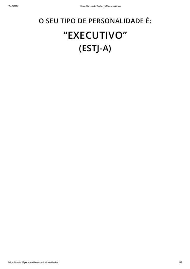 7/4/2016 ResultadosdoTeste|16Personalities https://www.16personalities.com/br/resultados 1/6 O SEU TIPO DE PERSONALIDA...