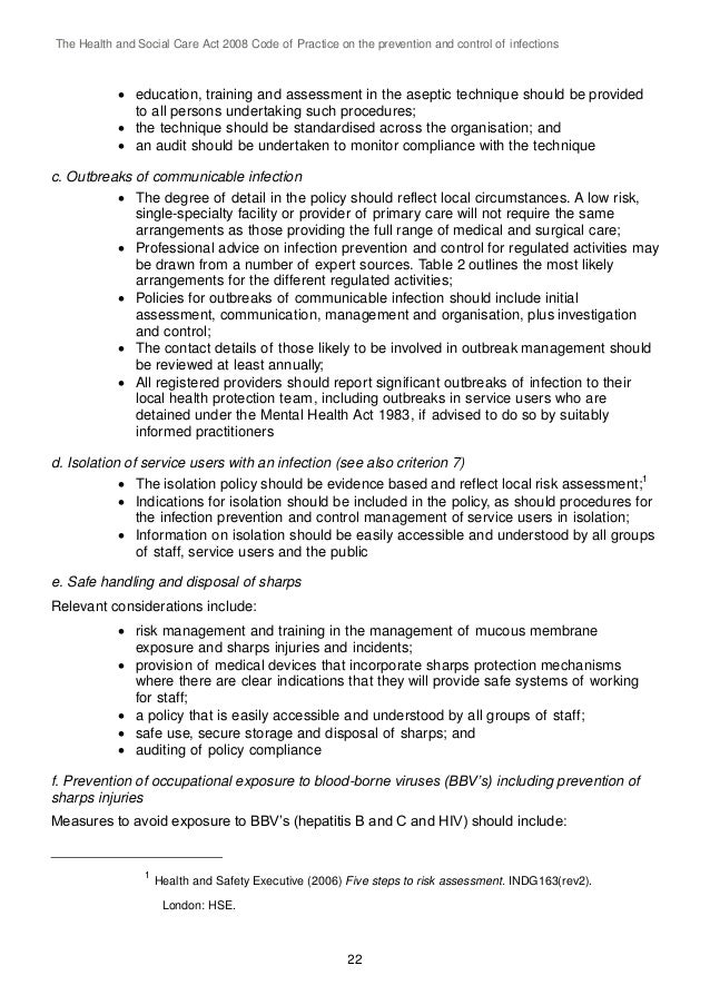 managing outbreaks of an infection essay