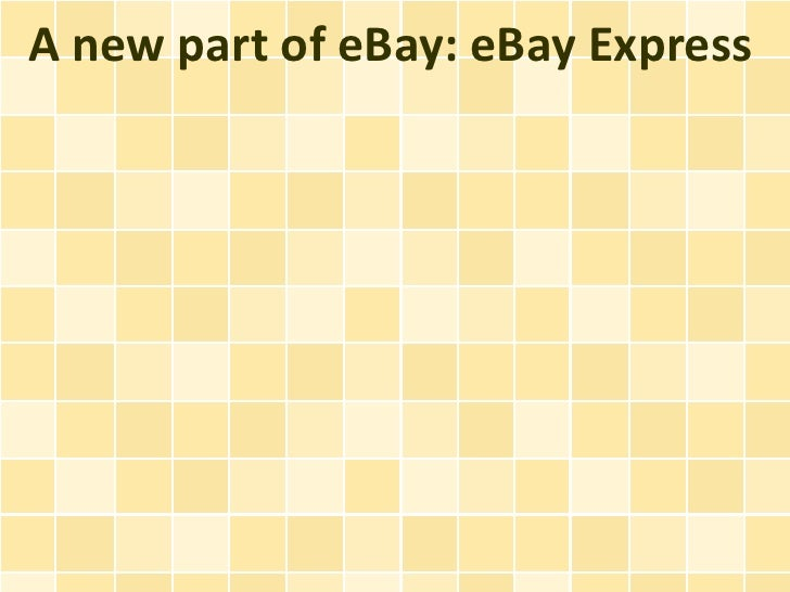 A new part of eBay: eBay Express