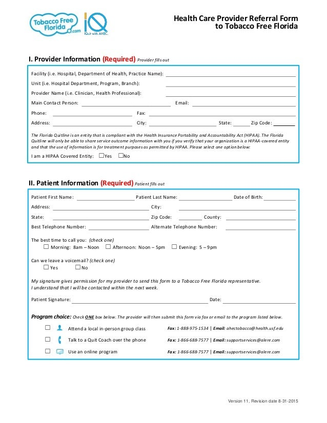 Provider Referral Form