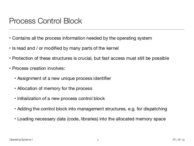 Operating Systems 1 (6/12) - Processes