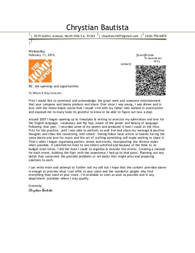Cover Letter For Home Offer