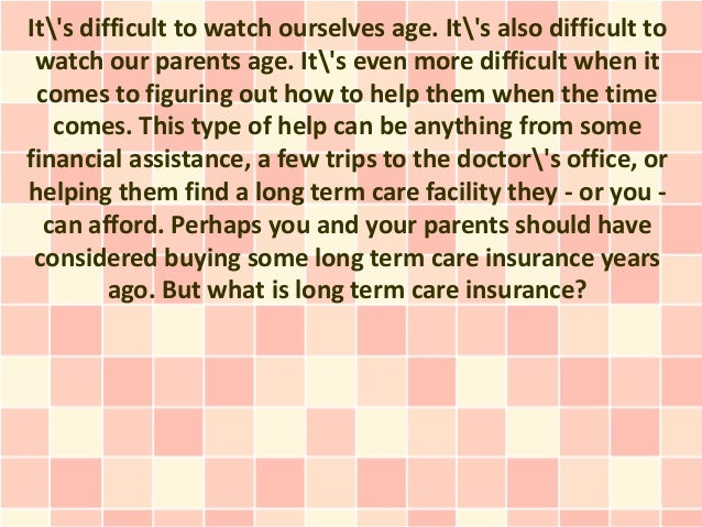 Its difficult to watch ourselves age. Its also difficult to watch our parents age. Its even more difficult when it comes t...