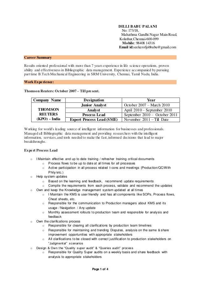 Enchanting Thomson Engineering Resume Sketch - Best Resume Examples ...