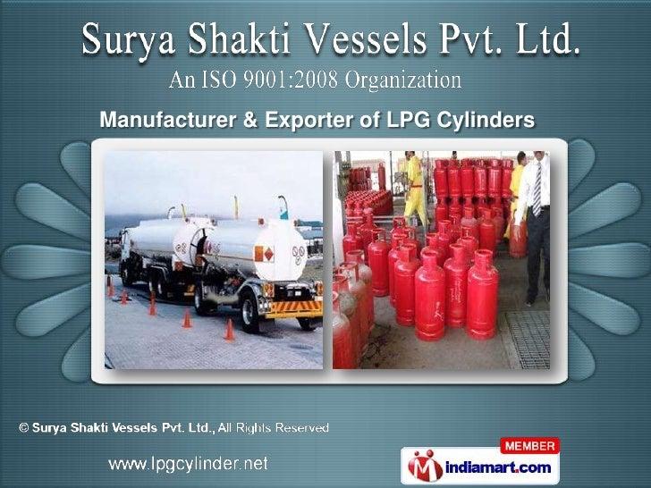 Manufacturer & Exporter of LPG Cylinders